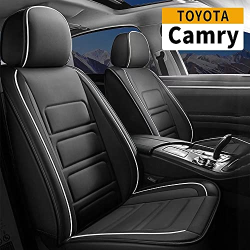 Car Seat Covers Custom Fit Full Set Seat Covers Compatible with Toyota Camry 1996-2017 Waterproof Faux Leather Vehicle Cushion Cover with Airbag