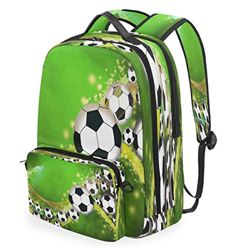 Soccer Football Backpack Empty Space Detachable College Bag Crossbody Casual Shoulder Daypacks Travel Computer Notebooks Laptop Bookbag for Women Men