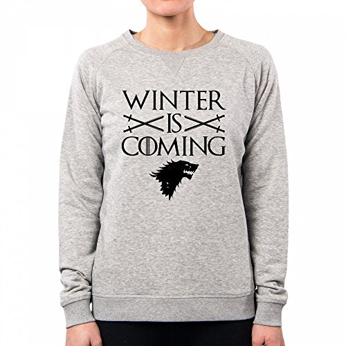 PACDESIGN Sudadera Mujer Stark Winter Is Coming Games of Thrones Serie TV Il Trono Di Spade TV Series Pd1457a