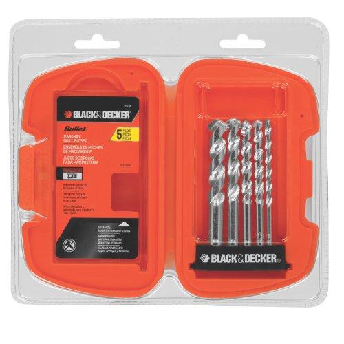 BLACK+DECKER Masonry Drill Bit Set,…