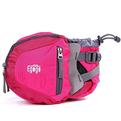 EGOGO Voyage Sport Taille Pack Fanny Pack Sac Banane Sac de randonnée avec Porte-Bouteille S2209 (Rose)