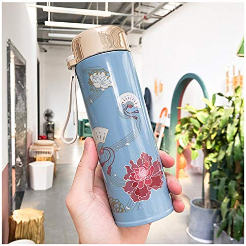 Wgath 320 Ml Chinese Retro-Stijl Thermos Thee Thermoskan Met Filter Roestvrijstalen Thermische Cup Koffiemok Office Business Waterfles C