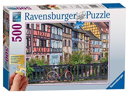 Ravensburger Puzzle 13711 - Colmar in Frankreich - 500 Teile Puzzle für Erwachsene und Kinder ab 10 Jahren, Puzzle mit größeren Teilen