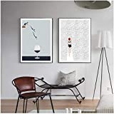 SHKHJBH Modern Abstract Abstract Nordic Poster Schwimmen