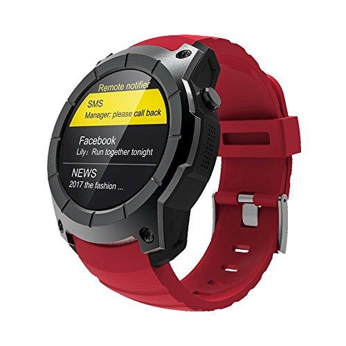 'Makibes G05nuovo GPS Orologio sportivo mtk25031.3Schermo, Orologio Intelligente Smartwatch multi-deporte Monitor De Ritmo Cardiaco Bluetooth 4.0, rosso