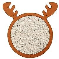 Yangmanini 寝マット38 * 38センチメートル(ブラウン)を研削装飾鹿サイザル麻マットかわいい猫のおもちゃ猫の爪を塗るレトロな壁を掻きます (Color : Brown)