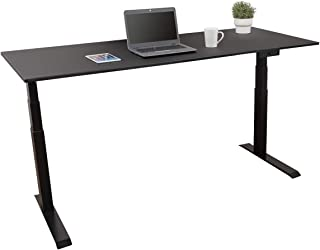 Dual Motor Electric Standing Desk/Stand Up Desk with EZ Assemble Frame | Assembles in Minutes | Extra Weight Capacity (72