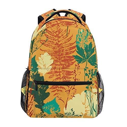 Mochila Escolar Autumn Leaves Bookbag para niños Niñas Bolsa de Viaje