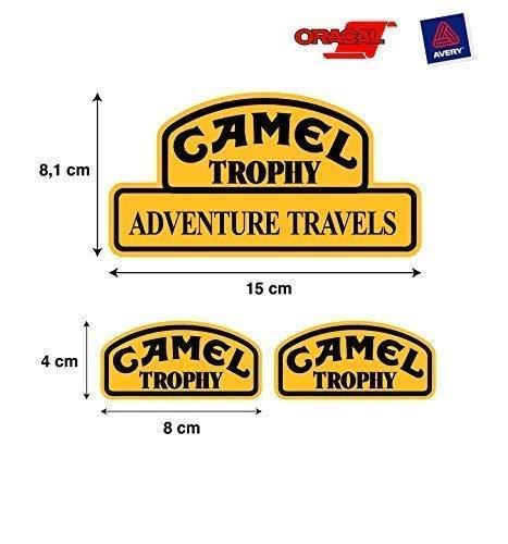 Aufkleber Aufkleber Camel Trophy Land Rover Jeep 4X4 Hochwertig 3 Einheiten Mod 1