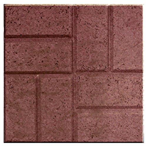 "16"" X 16"" Brick Patio Pavers - Patios Walkways Dog Kennels - 12 pack - Red Brick"