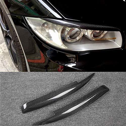 JXSMQC Carbon Fiber koplamp Cover wenkbrauwen ooglid Trim Sticker.Voor BMW 1 Serie E81 E82 E87 E88 Koplamp Wenkbrauw