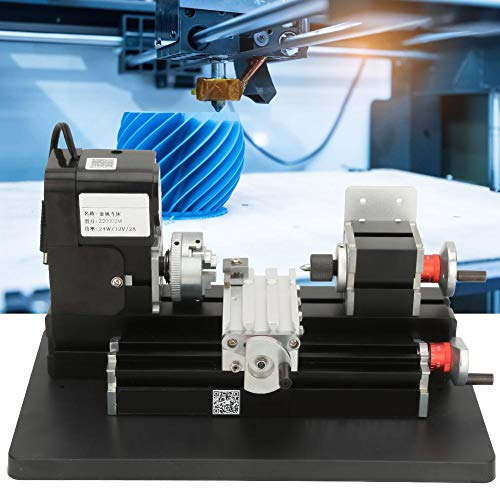 Fantastic Prices! Mini Metal Z20002M Lathe, 24W Mini Metal Lathe 20000RPM Motor for Soft Metal Plast...