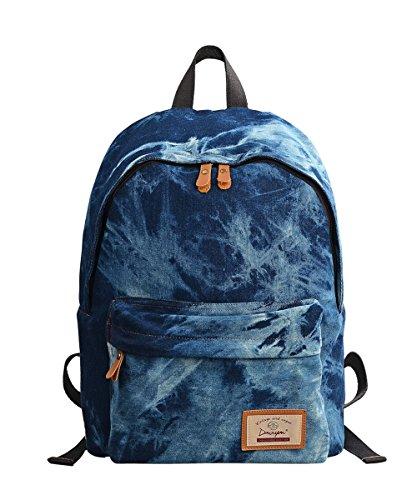 Casual Daypack Backpack School Student Bag Tela Zaino Rucksack Multitasca per Scuola Viaggio University College Zainitto Computer Portatile per Ragazze Donna Uomo Teenager-Douguyan Dark Blue 320