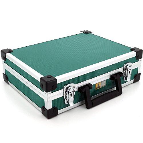 allit 424130 - Valigetta per attrezzi AluPlus Basic, misura L, colore: Verde