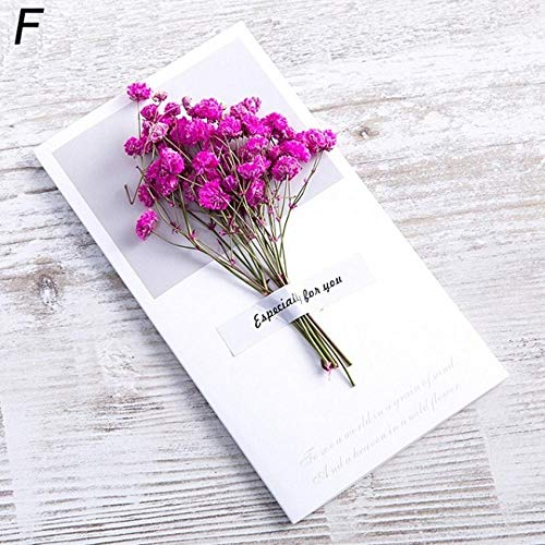 Piero Creatieve gedroogde bloemen Papercard Vouwtypekaarten Kerst Verjaardagsfeestje Trouwkaarten, A6
