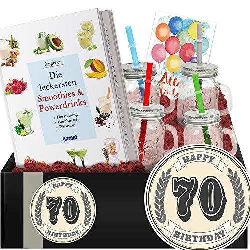 Geschenkidee 70. Geburtstag - DIY Geschenk Shakes - 70 Geburtstag Geschenke