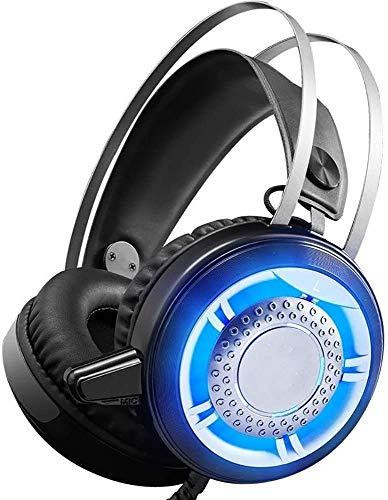 Casque Filaire HLKJ Gaming, PC Gaming Casque avec Noise Cancelling Mic Lumière Plus de Ear Headphones, Jeux stéréo Surround zhihao