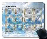 Yanteng Calendario 2019 con Cojines Importantes para Las Fiestas, Mouse Pad, Pintura de Cielo Estrellado Gaming Mouse Pad
