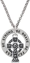 Delight Jewelry Large Celtic Cross - Be Strong Brave Fearless Affirmation Ring Necklace