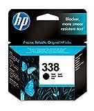 HP 338 Black Inkjet Print Cartridge Negro cartucho de tinta - Cartucho de tinta para impresoras (Negro, HP Photosmart 8450, 8150, 2710, 2610 HP PSC 2350, HP Officejet 7410, 7310, & 6210, HP Deskjet..., Estándar, Negro, Inyección de tinta, 20 - 80%)