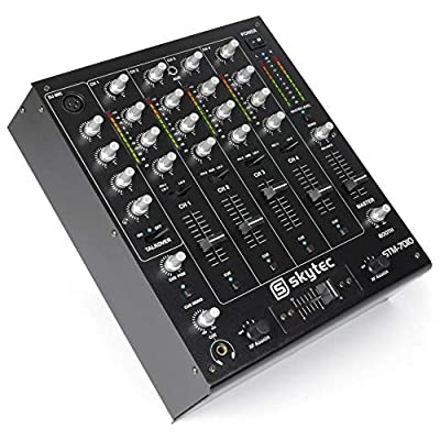 Skytec STM-7010 4-Channel DJ MC PA Mixer with Crossover Talkover PC Mac USB Connection