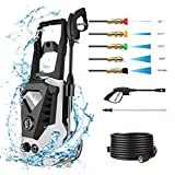 Casulo 3500PSI 2.6GPM Electric Pressure Washer, High Pressure Power Washer with 5 Adjustable Nozzle,Spray Gun, 32 ft Cable for Home, Lawn & Garden[US Stock]