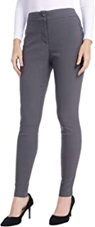 AUQCO Women Dress Pants Stretch Slim Skinny Trousers Casual Business Office Straight Leg Pants