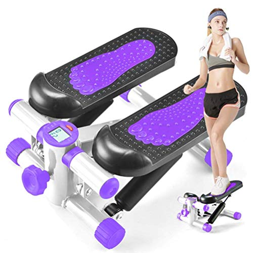 Review LLSZ Home Trainer Up-Down Exercise Stepper Dual Exercise, Mini Step Machines for Home Body Sc...