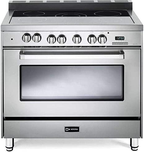Verona VEFSEE365SS 36 Electric Range with 4 cu ft European Convection Oven Black Ceramic Glass product image