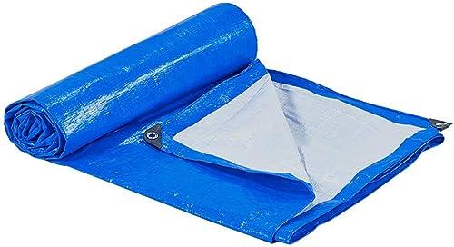 T-ShommeET Bache Imperméable à l'eau Anti-Gel écran Pare-Poussière Antivieillissement Bleu Extérieur Tentes Stores 9,7 X 3,7 M