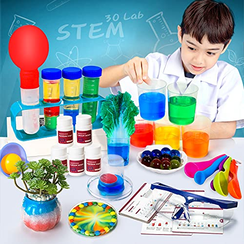 SNAEN Science Kit with 30 Science Lab Experiments,DIY STEM Educational Learning Scientific Tools for 3 4 5 6 7 8 9 10 11 Years Old Boys Girls Kids Toys Gift