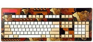 MINHUISHANGMAO Keyboard, Retro Anime Style Computer Keyboard, Ergonomic Design Desktop Decoration (Van Gogh Impression Bro...