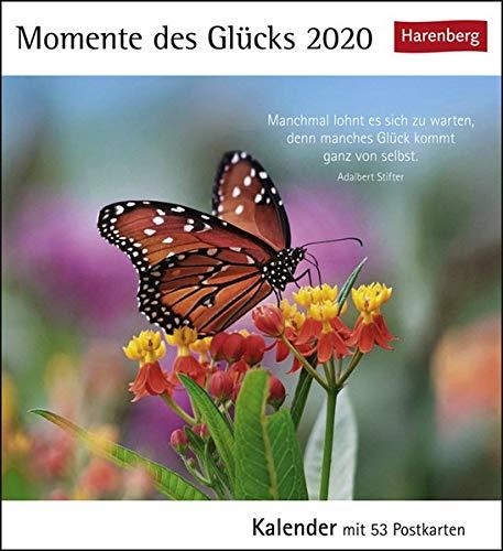 Momente des Glücks Postkartenkalender 2020. Wochenkalendarium. Blockkalender. Format 16 x 17,5 cm