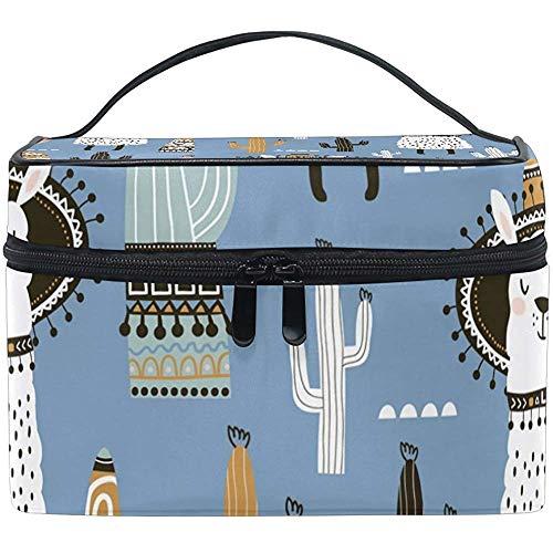 Case-1J0-S9O make-up tas met ritssluiting en cosmeticazak van Alpaca, draagbaar, multifunctioneel