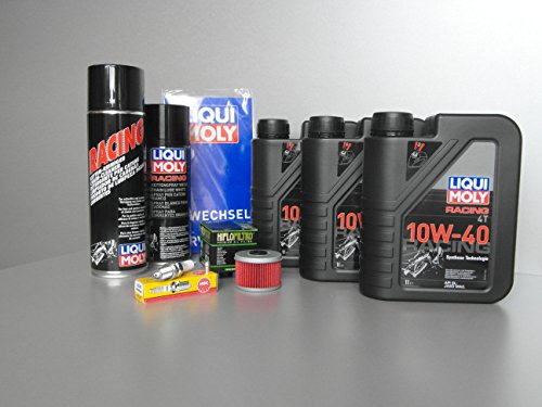 Wartungs - Set Quad DINLI 450 für Inspektion mit Oelfilter, Öl und Zündkerze