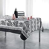 TIENDA EURASIA® Mantel Antimanchas - Mantel Rectangular de Mesa 150 x 240 cm - Diseños Vintage Modernos - Fabricado en 100% Polyester Lavable (C)