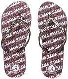 FOCO NCAA Alabama Crimson Tide Womens WORDMARK GLITTER THONG FLIP FLOPALABAMA REPEAT WORDMARK GLITTER THONG FLIP FLOP - WOMENS - SMALL, Team Color, S