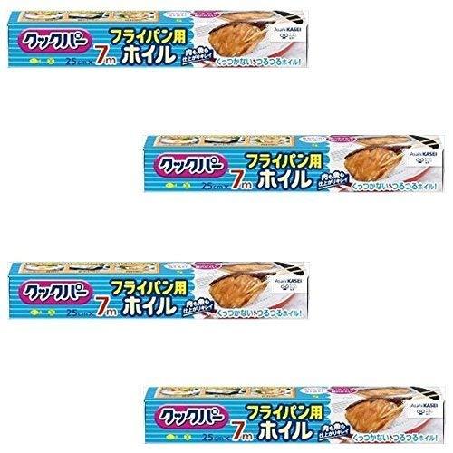 【まとめ買い】クックパー フライパン用ホイル 25cm×7m【×4個】