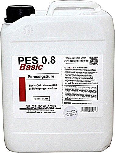 Agrinova Peressigsäure PES 0.8 Basic Plus 5 Liter - Basis-Oxidationsmittel zu Reinigungszwecken