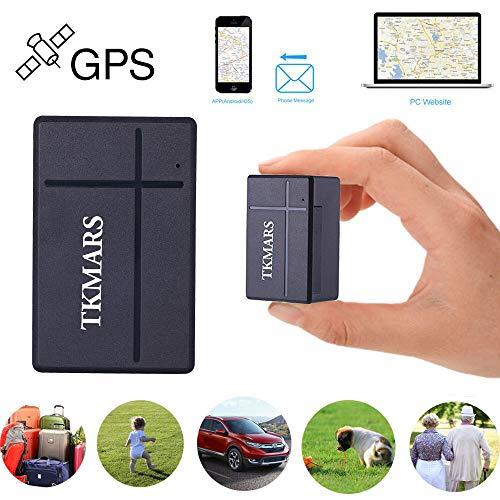 Mini GPS Tracker, TKMARS GSM SIM Tracking Posizione in tempo reale antifurto GPS Localizzatore Chiavi Satellitare Portatile Mini Key Finder tracking 1000mAh con APP gratis (TK903A)