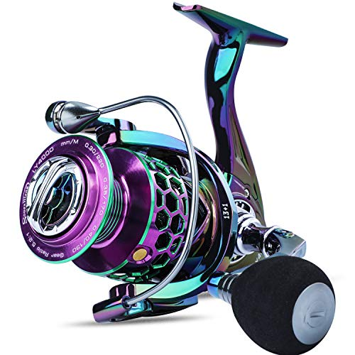 Sougayilang Fishing Reel Light Weight Ultra Smooth Aluminum Spinning Fishing Reel-13+1BB - LY1000