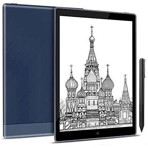Taotuo Tablet eReader/e-Ink da 10,1 pollici, eBook Reder, (memoria 64 GB, display E-Ink Carta Dual Touch, scrittura a mano, luce fredda e calda, Android 8.1, WLAN Bluetooth OTG (blu)