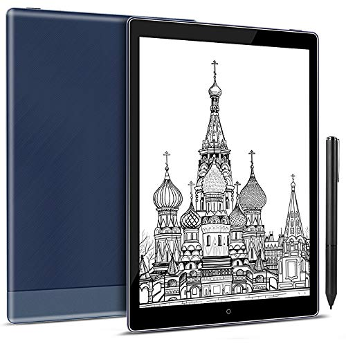 Taotuo Tablet eReader/e-Ink da 10,1 pollici, eBook Reder, (memoria 64 GB, display E-Ink Carta Dual Touch, scrittura a mano, luce fredda e calda, Android 8.1, WLAN Bluetooth OTG (blu)