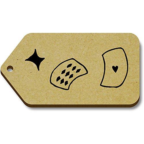 Azeeda 10 x 'Kartenspielen' 66mm x 34mm Hölzerne Tags (TG00005963)