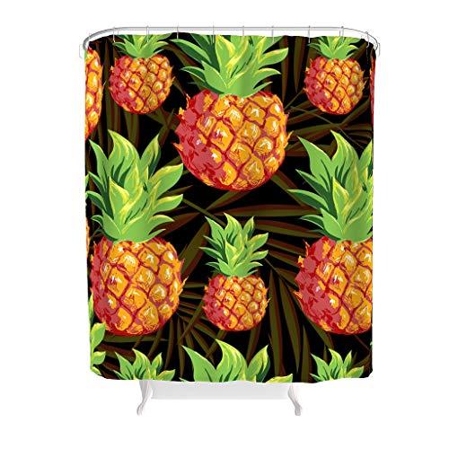 Toomjie ananas fruit patroon bedrukte douchegordijnen met gratis haken milieuvriendelijk wasbaar badkamer decor bad gordijn beste cadeau voor kinderen