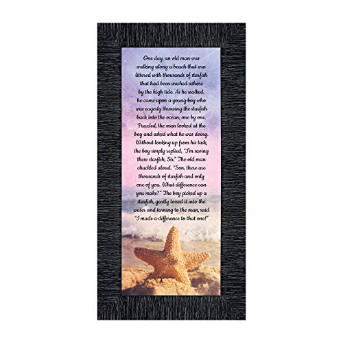 The Starfish Story Teacher Gift, The Legend of The Starfish Wall Decor, Thank You Gifts or Encouragement Gifts, Thinking of You Gifts, Add to Your Thank You Gift Basket, Framed Home Décor 7395CH