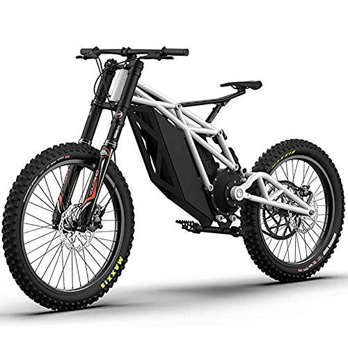 WXX Elektro-Mountainbike Für Erwachsene, Ausgestattet Mit 48V Li-Batterie Elektro Off-Road Bike/Motorrad Doppelscheibenbremse Elektro-Fahrrad, Für Outdoor Radfahren Reisen,Weiß