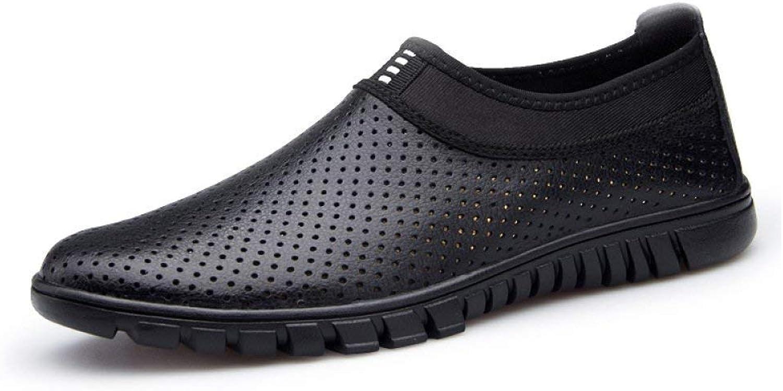 Fuxitoggo Weiche Herrenschuhe Sommer atmungsaktive Hohle Hohle Hohle Lederschuhe Business Casual Schuhe Herrenschuhe (Farbe   Legsschwarz(withholes), Größe   EU 40)  b20f6c