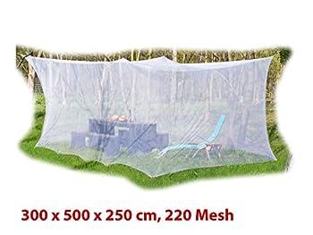 infactory Moustiquaire XXL pour intérieur et extérieur, 300 x 500 x 250 cm, 220 Mailles, Blanc