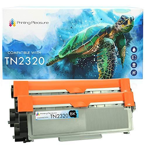 2 Toner Compatibili TN2320 Cartuccia Laser per Brother HL-L2300D HL-L2340DW HL-L2360DN HL-L2365DW DCP-L2500D DCP-L2520DW DCP-L2540DN DCP-L2560DW MFC-L2700DW MFC-L2720DW MFC-L2740DW - Nero, Alta Resa